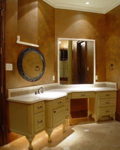 浴室背景墙地中海风格装潢设计图片