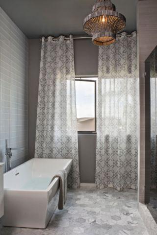 浴室窗帘现代风格装潢图片