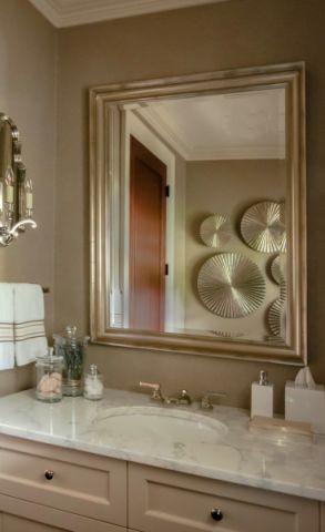 浴室背景墙美式风格装饰图片