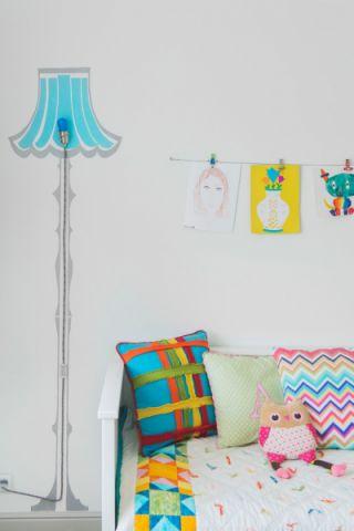 儿童房背景墙现代风格装饰效果图