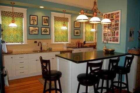 厨房美式风格效果图大全2017图片_土拨鼠精致迷人厨房美式风格装修设计效果图欣赏