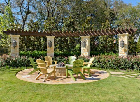 花园背景墙地中海风格装潢效果图