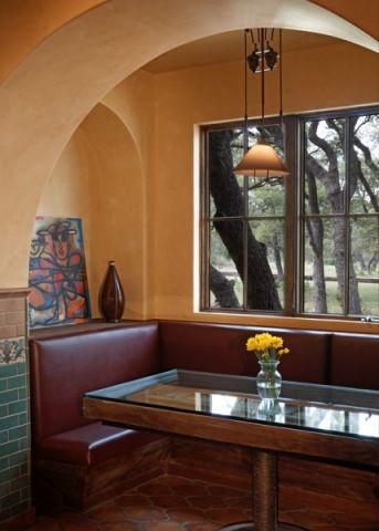 餐厅背景墙地中海风格装修图片