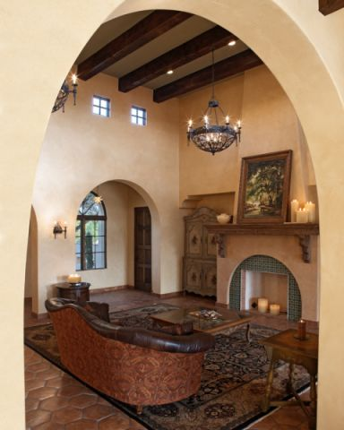 客厅吊顶地中海风格装饰设计图片