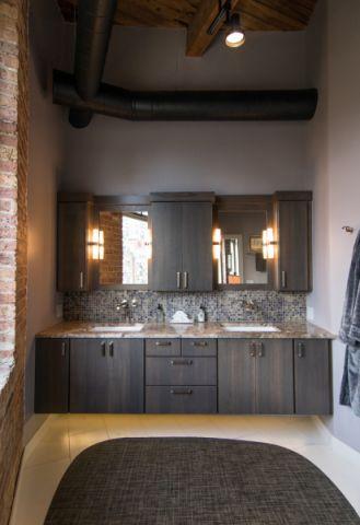 浴室洗漱台混搭风格装修图片