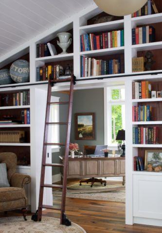 书房博古架美式风格装修效果图