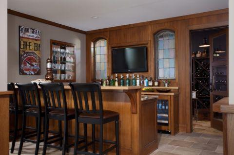 酒窖吧台美式风格装潢设计图片