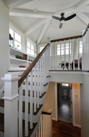 客厅楼梯美式风格装饰图片