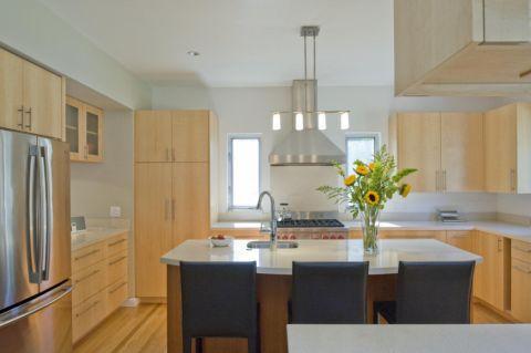 厨房现代风格效果图大全2017图片_土拨鼠美感优雅厨房现代风格装修设计效果图欣赏