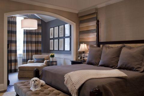 卧室照片墙美式风格装潢效果图