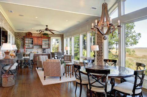 阳光房地板砖美式风格装饰图片