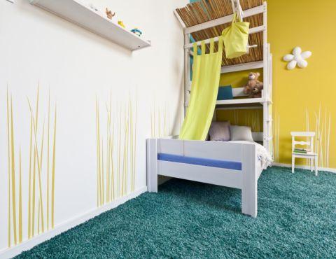 儿童房背景墙现代风格装饰图片