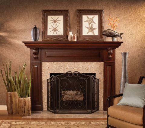 客厅地板砖美式风格效果图