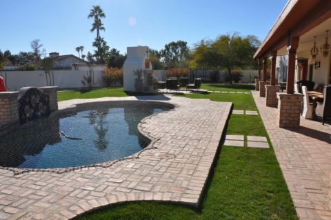 花园地板砖地中海风格装修设计图片