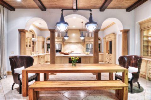 厨房餐桌地中海风格装修图片