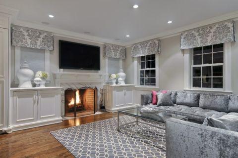 客厅沙发美式风格装潢效果图