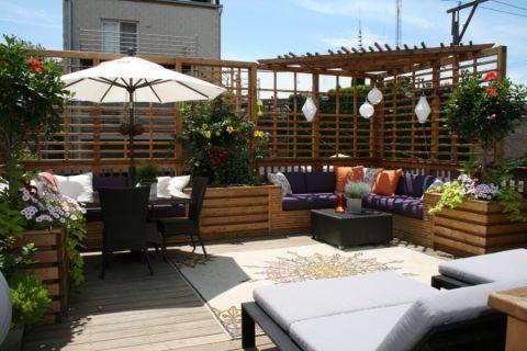 阳台背景墙美式风格装饰设计图片
