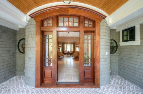 玄关推拉门美式风格装修图片