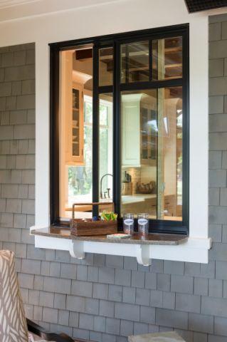 玄关背景墙美式风格装饰设计图片