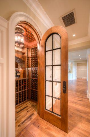 酒窖推拉门美式风格装潢设计图片