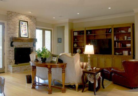 客厅博古架美式风格效果图