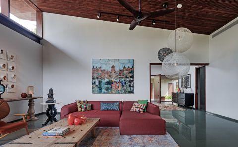 客厅背景墙混搭风格装修设计图片