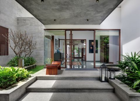 玄关地板砖混搭风格装饰效果图