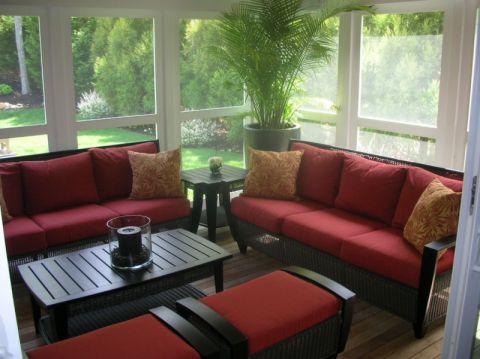 阳台沙发现代风格装潢设计图片