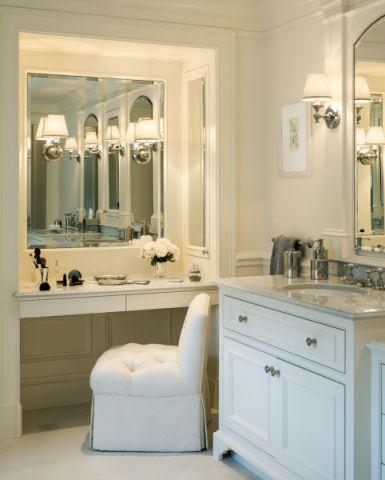 浴室洗漱台美式风格装修设计图片