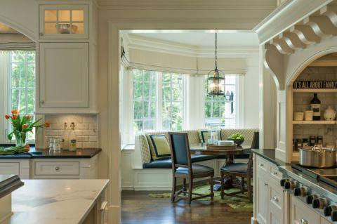 厨房餐桌美式风格装饰设计图片