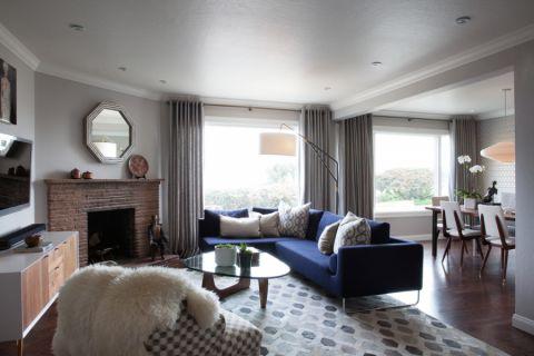 客厅窗帘现代风格装修设计图片