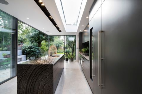 厨房地板砖现代风格装饰效果图