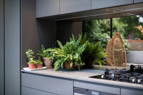 厨房背景墙现代风格装潢图片