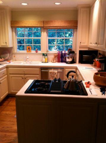 厨房窗帘混搭风格装修设计图片