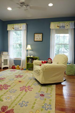 儿童房窗帘美式风格装饰图片