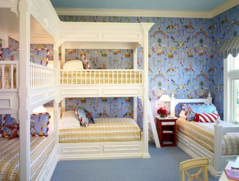 卧室背景墙美式风格装饰设计图片