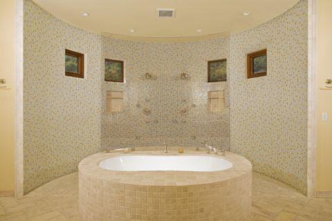 浴室背景墙地中海风格装修设计图片