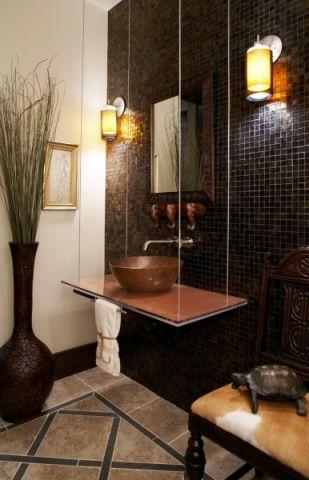 浴室洗漱台地中海风格装修设计图片
