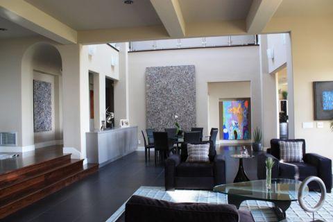 266平米四居室现代装饰实景图_土拨鼠装修效果图