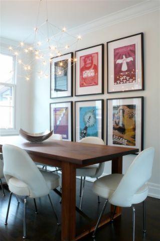 餐厅照片墙现代风格装饰设计图片