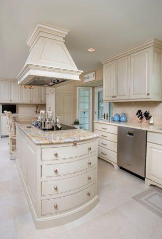 厨房厨房岛台美式风格装潢效果图