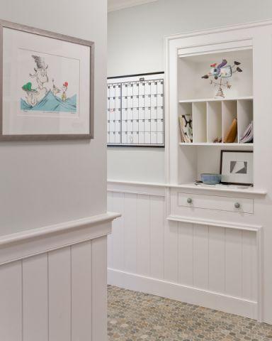 玄关背景墙美式风格装饰效果图