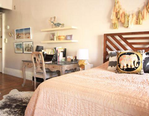 卧室地板砖混搭风格装潢图片