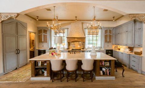 厨房吧台地中海风格装修设计图片
