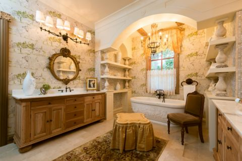 浴室窗帘地中海风格装饰设计图片