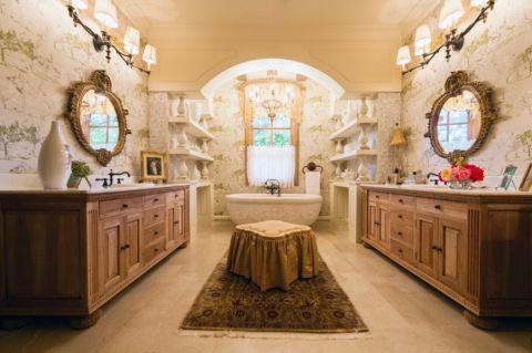 浴室背景墙地中海风格装修效果图
