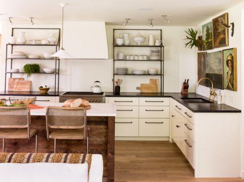 厨房混搭风格效果图大全2017图片_土拨鼠现代清新厨房混搭风格装修设计效果图欣赏