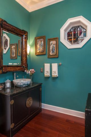 卫生间背景墙美式风格装修图片
