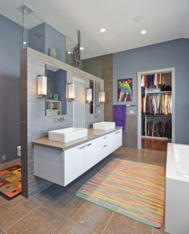 浴室地板砖地中海风格装饰设计图片