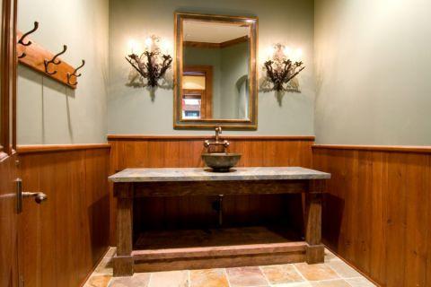 浴室地板砖地中海风格装潢效果图